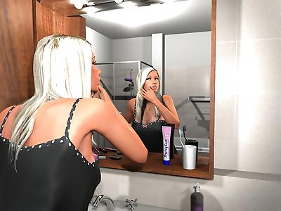 Sexy 3d blonde hottie..