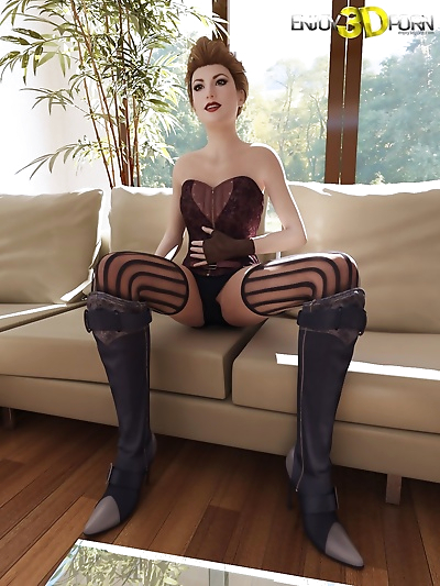 Sexy chick in corset wants..