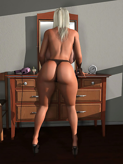 Hot 3d blonde babe exposing her giant natural tits - part 557