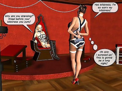 Mistress and maid bdsm orgy - part 12